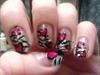 zebra heart nail design