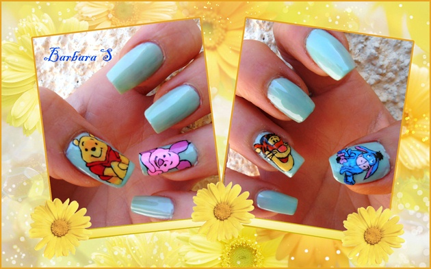 Winnie The Pooh Nail Art Gallery