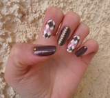 pattern nails with studs