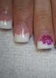 glitter with flower