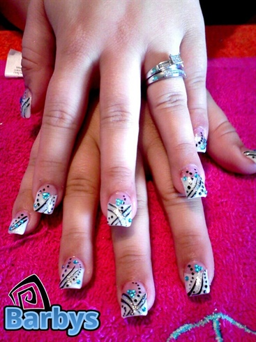 french tips with designs