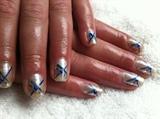 Pinstriping on natural nail