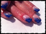 blue cracked