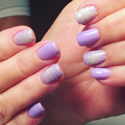 Lavender Stamped