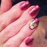 Pink Glitter Flowers