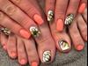 Coral Watercolor Nails