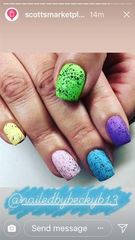 Easter Egg Nails Nail Art Gallery