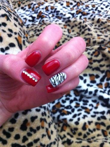 Rosso e zebrato