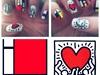 Keith Haring and Piet Mondrian Nails