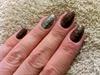 Snake effect nails.