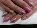 Sparkly almond nail.