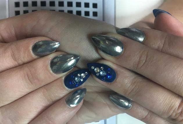 Gel Mirror Powder Nails