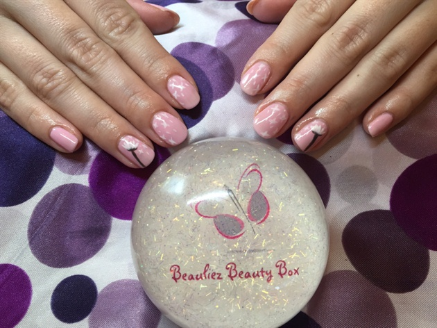 Dandelion Nail Design
