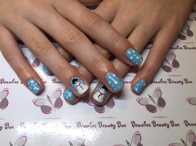 Snowmen Nails