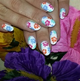 Tropical Hibiscus Stamping