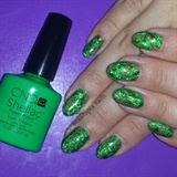 Emerald Foil Shellac