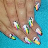 Neon Watercolor Leopard