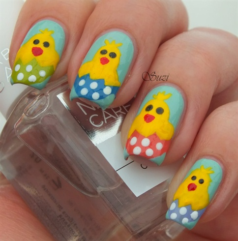 Easter Chicken Nails