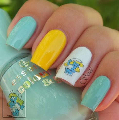 Smurfette Nails