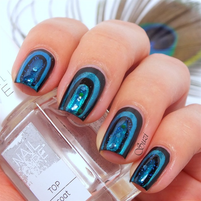 Peacock Nail Design Nail Art Gallery Step By Step Tutorial Photos