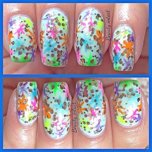 Sparkles nail art