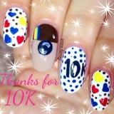Instagram 10K nail art