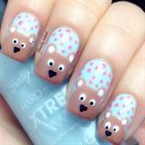 Cute Bear Nails