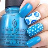 Floral Polka Nails