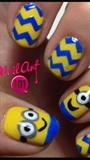 Minion Nails So Adorable!!!!!