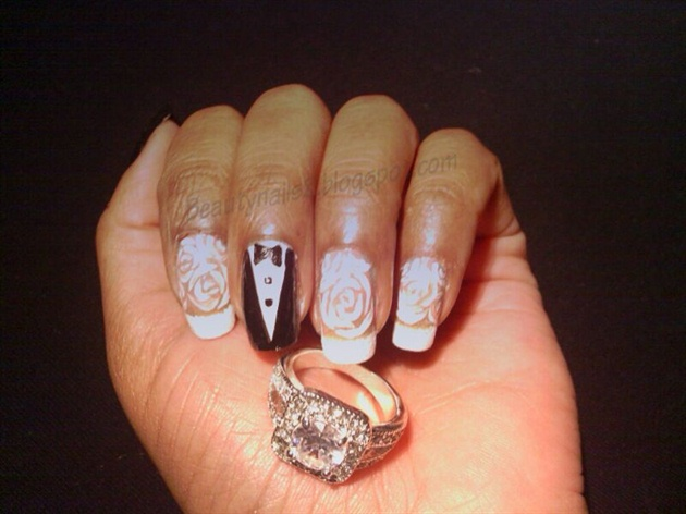 #wedding nail design