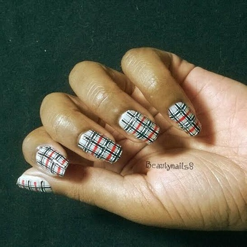 Tweed Nail Art Nail Art Gallery Step By Step Tutorial Photos