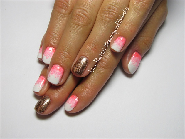 Glitter Fade in Hot Pink