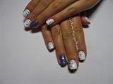 Blue & Purple Nail Art