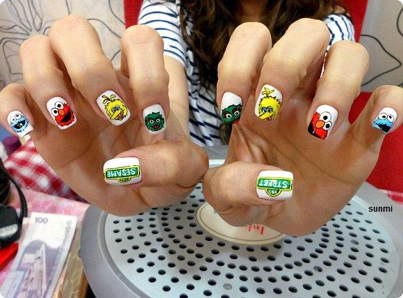 Sesame Street Nail Art Gallery