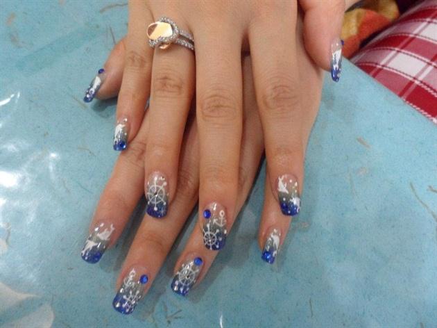 Дизайн ногтей с дельфином фото 185