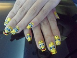 My SpongeBob Hand Painted Nail Art