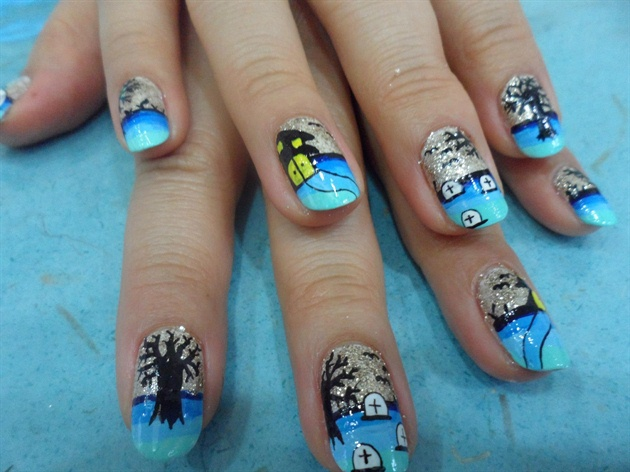 Cute Halloween Nails - Nail Art Gallery