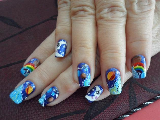 My Amazing Galaxy Nail Art Design Nail Art Gallery