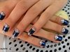 Navy Blue with RhineStones