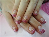 pink glitters with roses