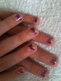 Purple & Sliver glitter