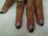 Black over Blue