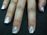 White & Silver glitter