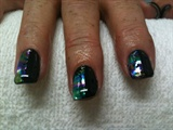 Black Gel With Opal foil on half