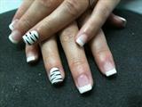 White French & zebra print