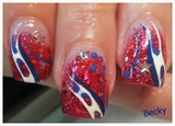 Waves of  Red, White  and Blue