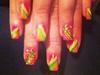 Multicolor Acrylic nails