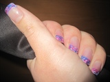 Pink, Blue, Purple & White Marbled Swirl