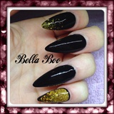 🎄 Black & Gold Glitter 🎄