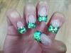 Spirited Green Glitter French